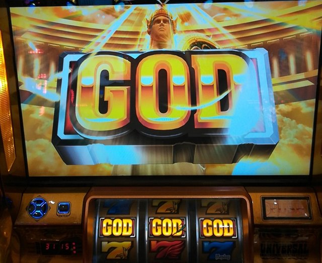 ミリオンゴッド神々の凱旋で「神殿ステージ」でGOD揃い降臨!